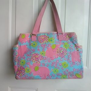 Lilly Pulitzer carry-all bag